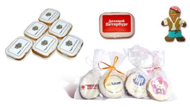 печеньки с логотипом